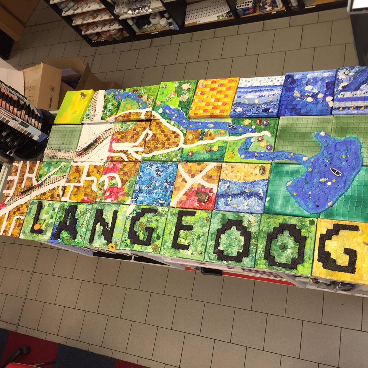 Vorbereitung auf das Quadratologo-Großprojekt auf Langeoog