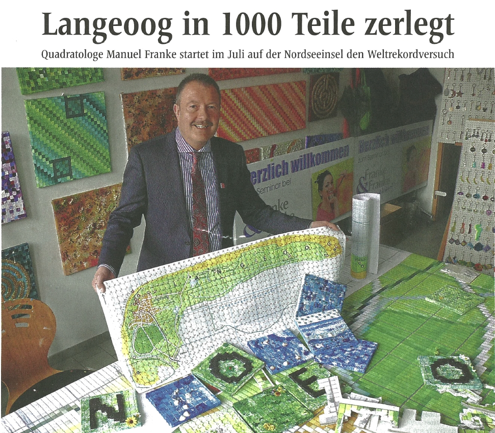 Presse aus Münster berichtet über Weltrekord